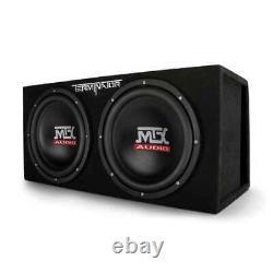 MTX 12-Inch 2000-Watt Max Car Audio Dual Loaded Subwoofer Box Enclosure (Used)