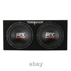 MTX 12-Inch 2000-Watt Max Car Audio Dual Loaded Subwoofer Box (Open Box)