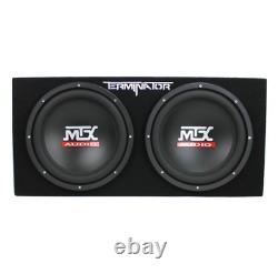 MTX 12In -1200W Car Audio Dual Loaded Subwoofer Box Enclosure Solid Car Speaker