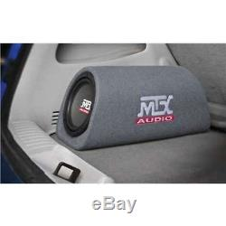 MTX AUDIO 240W Loaded Subwoofer Enclosure Amplified Tube Box Vented (Open Box)