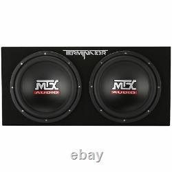 MTX Audio TNE212D Terminator Series Dual 12 2-Ohm Sealed Loaded Enclosure