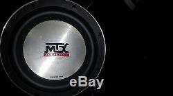 MTX Jack Hammer Sub box Loaded with an MTX 10 85 Series 4 Ohm Subwoofer