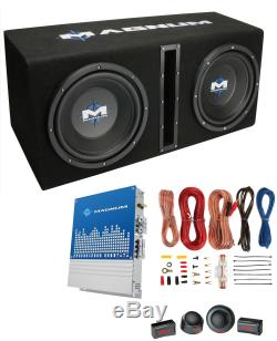 MTX Magnum MB210SP 10 400W RMS Dual Car Loaded Subwoofer Sub Woofer+Box+Amp Kit