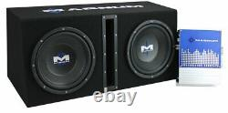 MTX Magnum MB210SP 10-Inch 400W RMS Dual Loaded Subwoofer Sub Box System Package