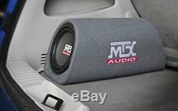 MTX RT8PT 8 240W Car Loaded Subwoofer Enclosure Amplified Tube+ 8 Ga Amp Kit
