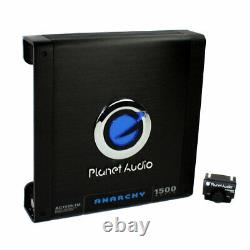 MTX TNE212D 12 1200W Dual Loaded Car Subwoofers Box & Planet 1500W Amp with Kit