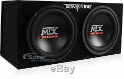 MTX TNE212D 12 1200W Dual Loaded Subwoofer + Amplifier + Capacitor + Amp Kit