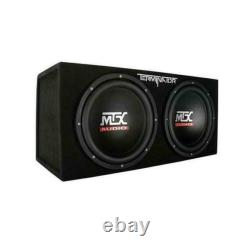 MTX TNE212D Terminator 12 1200w Dual Loaded Sealed Subwoofer Box Enclosure Subs