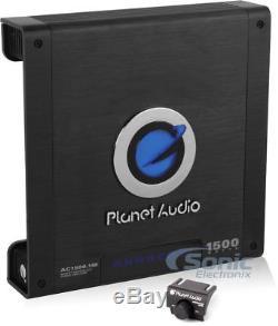 MTX TNE212D2 Dual 12 inch 1200 Loaded Car Subwoofer Box + Planet 1500W Amp + Kit