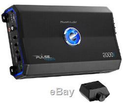 MTX TNE212DV 12 2000W Dual Loaded Car Subwoofers + Box + Planet 2000W Amp + Kit