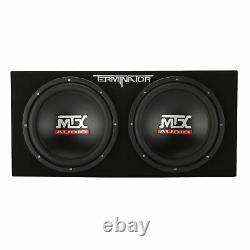 MTX TNE212DV 12-Inch 2000-W Max Audio Dual Loaded Subwoofer Enclosure (4 Pack)