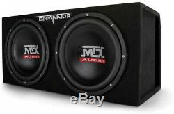 MTX TNE212DV 12-Inch 2000W Dual Loaded Subwoofers Audio With Box With Boss Amp
