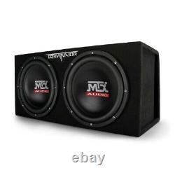 MTX TNE212DV 12 in. 2000-Watt Max Car Audio Dual Loaded Subwoofer Box Enclosure