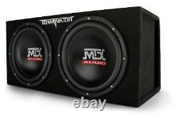 MTX TNE212DV Terminator 12 Dual Loaded Sealed Subwoofer Box Enclosure Subs