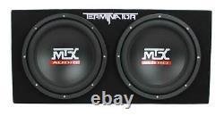 MTX TNP212D2 12 1200W Dual Loaded Car Audio Sub+Box+Amplifier (For Parts)