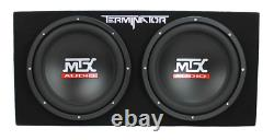 MTX TNP212D2 12 1200W Dual Loaded Car Subwoofer Audio with Sub Box and Amplifier