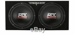 MTX Terminator TNE212DV 1000W 12 Car Loaded Enclosure Subwoofer+Amp+Amp kit