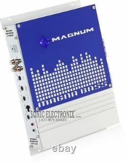 Magnum MB210SP 1200W 10 Loaded Sub Enclosure with Mono Amp + 8 Gauge Amp Kit