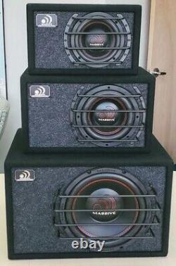Massive Audio 6.5 500W Dual 4 Ohm Loaded Subwoofer Enclosure BG-6