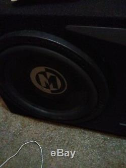 Memphis 2 12 Subwoofers + Ported Box Loaded Enclosure Bass Speakers Car Audio