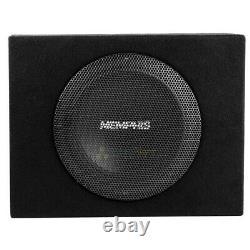 Memphis Audio 8 Loaded Enclosure Powered Subwoofer Bass System Combo SRX08SP