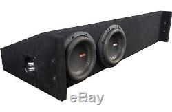 Memphis Audio MJM E6D1T LOADED DUAL 6.5 MINI MOJO TRUCK BOX ENCLOSURE OPEN BOX