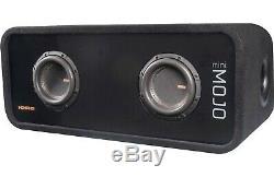 Memphis Audio MJME8D1 Dual 8 Ported Loaded DVC Subwoofer Enclosure MJM844