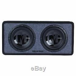 Memphis Audio PRXE12D2 Dual 12 Power Reference Series Loaded Enclosure 2-Ohm