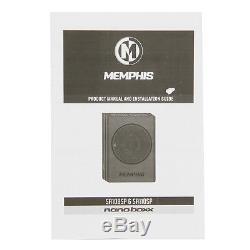 Memphis Audio SA108SP 8 Powered Underseat Loaded Amplifier Subwoofer Enclosure