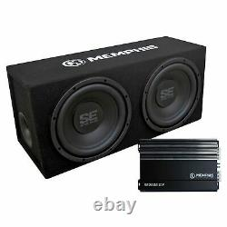 Memphis Audio SE210 Dual 10 Loaded AMP Enclosure SE2000.1DF BASS PACKAGE