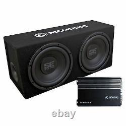 Memphis Audio SE210 Dual 10 Loaded SE Enclosure, SE2000.1DF 500 Wat Amplifier
