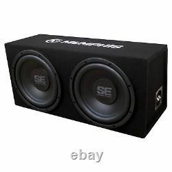 Memphis Audio SE210 Dual 12 Loaded SE Enclosure, SE2000.1DF 500 Wat Amplifier