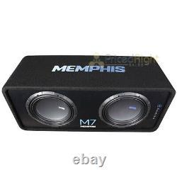 Memphis Audio Single 12 Loaded Subwoofer Enclosure M7 Series 1500W Max M7E12D1