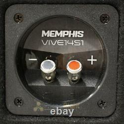 Memphis Audio Single 14 Loaded Enclosure 4400W Max 1 Ohm VIV Series VIVE14S1