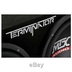 Mtx 12 inch Subwoofers Box Audio 1200W Dual Loaded + 1500W Amplifier + Capacitor