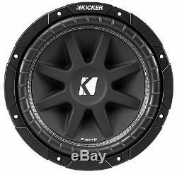 New Kicker Car Audio 12 Loaded Custom Truck Sub Box Enclosure With C12 Subwoofer