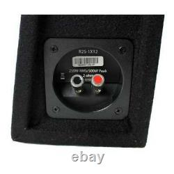 New Rockford Fosgate R2S-1X12 12 500W Shallow Loaded Subwoofer Enclosure (Used)