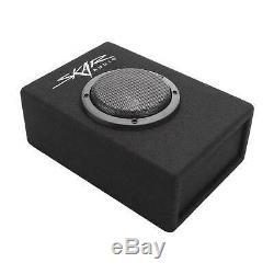New Skar Audio Evl-1x65d4-v-lp 6.5 400w Low-profile Loaded Ported Sub Enclosure