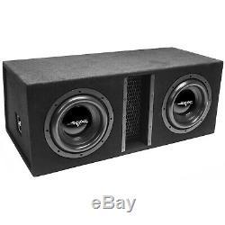 New Skar Audio Evl-2x10d4 Dual 10 4000w Dual 4 Ohm Loaded Subwoofer Enclosure