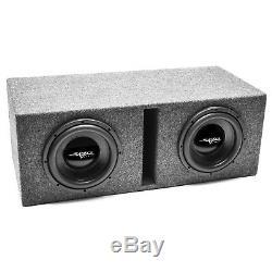 New Skar Audio Ix10d4-2x10vented Dual 10 800w Loaded Subwoofer Enclosure D4