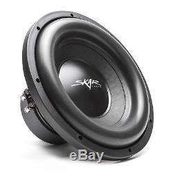 New Skar Audio Sdr-2x12d4 Dual 12 2400w Dual 4 Ohm Loaded Subwoofer Enclosure