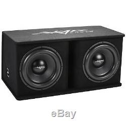 New Skar Audio Sdr-2x15 D4 2400 Watt Dual 15 Loaded Vented Subwoofer Enclosure