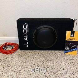OPEN BOX JL Audio ACP108LG-W3V3 8 Loaded Car Subwoofer & Enclosure Box & Amp