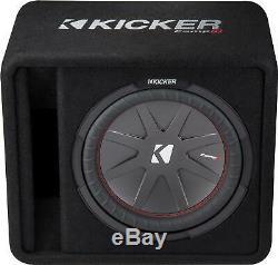 Open-Box Excellent KICKER CompR 12 Dual-Voice-Coil 2-Ohm Loaded Subwoofer