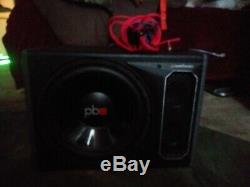 POWERBASS PS-AWB121 12 200w RMS Loaded Powered Subwoofer Sub Box Enclosure