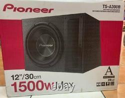 Pioneer TS-A300B 1500W Peak (500W RMS) 2-Ohm 12 Loaded Subwoofer Enclosure NEW