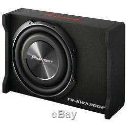 Pioneer TS-SWX3002 12 Shallow Mount Preloaded Subwoofer Enclosure Loaded with