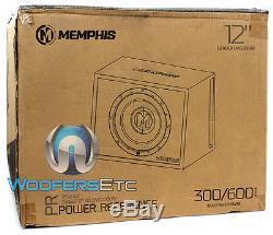 Pkg MEMPHIS PRXE12S 12 LOADED SUBWOOFER SPEAKER BASS BOX + PPI TRAX1.1200D AMP