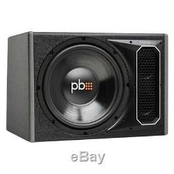 PowerBass 12 550W Single Vented 4-Ohm Loaded Subwoofer Enclosure