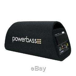 PowerBass BTA-8 Car Audio 8 Loaded Power Subwoofer Tube Enclosure + Amp 300W